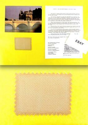 """CHRISTO -- """"The Pont Neuf Wrapped"""" Fabric Swatch, Info Sheet, Postcard -- 1985"""