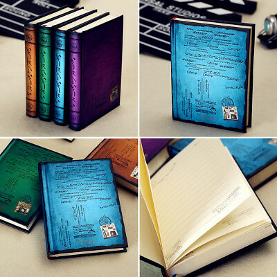 Classic Stamp Writing Cover Blank Pages Travel Journal Diary Hardcover