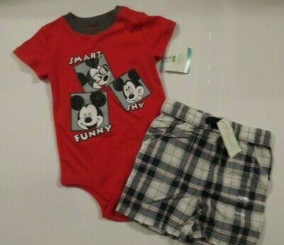 102093249dafe NEW Disney First Impressions Boys 24 Mo 2 Piece Mickey MouseShort Outfit Set  Lot