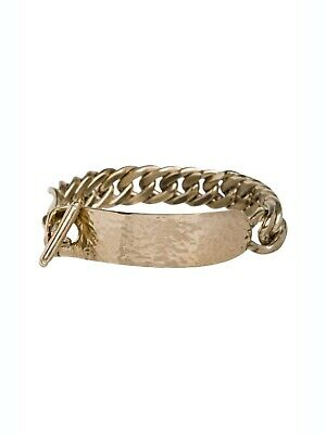 Bracelet 100% Authentic Steel Giorgio Armani And Gold Plated.