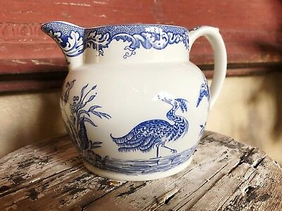 The SPODE BLUE Room Persian BIRD collection Pitcher Blue White