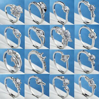 Fashion Women Zircon Ring Open Finger Knuckle Rings Jewelry Gift Wedding Party