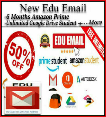 FAST DELIVERY NEW Edu E-mail ✅6 Free Months Amazon Prime+✅Unlimited Google Drive