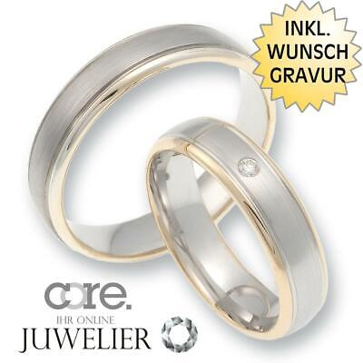 Trauringe Eheringe Aus 585 Gold Rotgold 925 Silber Bicolor/diamant A19105562 Jewelry & Watches