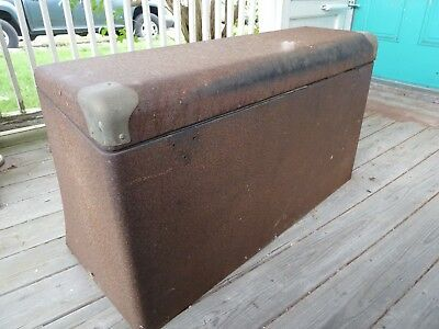 "VINTAGE 1920's 30's METAL TRUNK POTTER""S? FORD TUDOR CHRYSLER CHEVY DODGE"