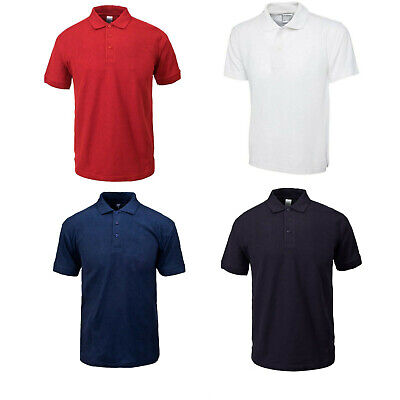 Mens Polo Shirts Summer Causal Work Wear Top Light Weight ST Size S to 4XL