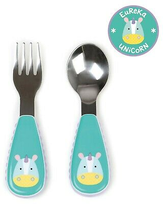 Skip Hop Zootensils Fork and Spoon Set Utensils Zootensils UNICORN 12 m+