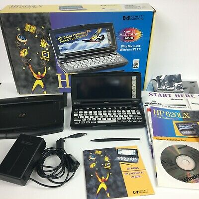 HP 620LX Color Palmtop PC 16 MB COMPLETE w/Stylus Manuals Dock Cords CDs Box