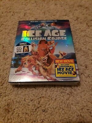 Ice Age Collision Course Blu-Ray+Dvd+Digital Hd  Slip Cover Plus Trick Or Treat