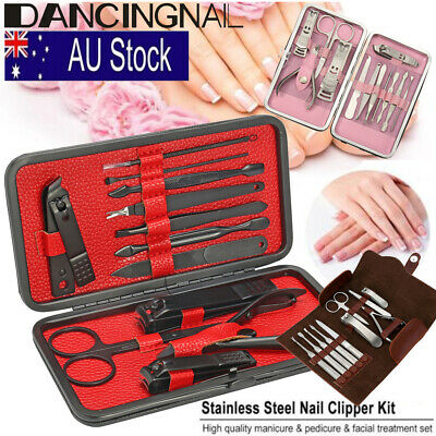 Stainless Manicure Pedicure Set Nail Clippers Kit Cuticle Grooming Beauty