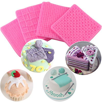 Silicone Fondant Mould Chocolate Soap Mold Baking Knitting Texture Embossed Mat