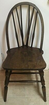 1930 Braced Bow Back Chair by Winchendon Furniture Co. Maple w/ Mahogany Finish