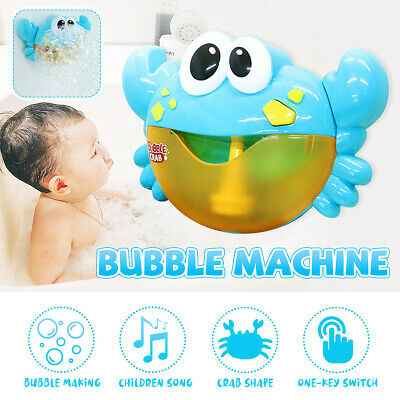 Automatic Bubble Blower Blue Crab Blowing Maker Machine For Kids Party Effect
