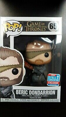 Game of Thrones Beric Dondarrion Funko Pop 2018 NYCC Shared Exclusive