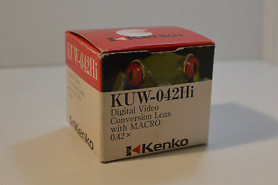 USED KENKO CONVERSION LENS KUW-042Hi Digital Video With Macro 0.42X