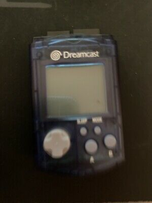 Sega DreamCast Official Visual Memory Aqua Blue Unit card VMU memory card usa NA