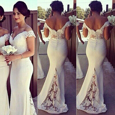 Women Formal Wedding Bridesmaid Long Evening Party Ball Prom Gown Cocktail@Dress