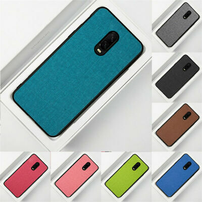 For OnePlus 6 6T Luxury Slim Fabric Hybrid Soft TPU Shockproof Back Case Cover