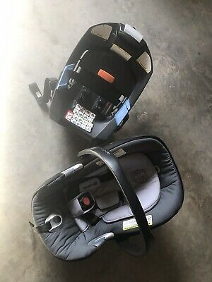 Cybex aton Q Platinum Carseat w/ Base Could Grey Washable