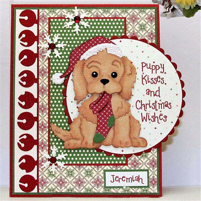 Christmas Dog Metal Cutting Dies Stencil Scrapbook Card Embossing Craft Gift #3