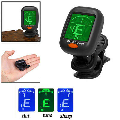 Mini Guitar Tuner Digital LCD Clip On Tuner For Acoustic Guitar Chromatic Bass