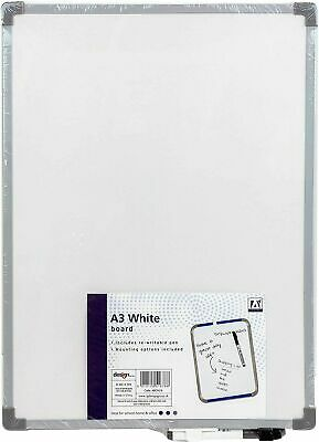 A3 Whiteboard Dry Wipe Re-writable Pen and Self Sticker Pad school/home/office