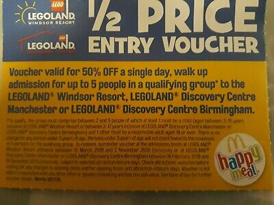 Legoland 1/2 Half Price Entry Voucher up to 5 people