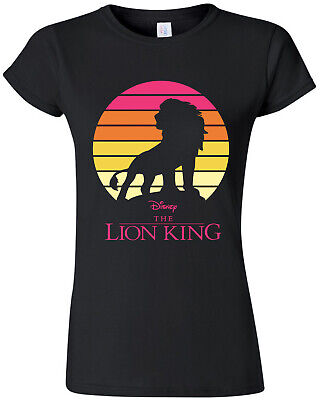 Ladies The Lion King Adult Simba  Official Tee T-Shirt Womens Girls