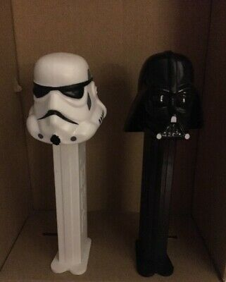 Vintage 1997 Star Wars Dearth Vader & Storm Trooper Pez Dispensers