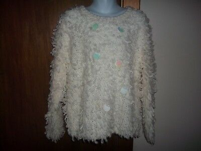 girls long sleeved loopy jumper from matalan aged 8/9yrs has some bobbling