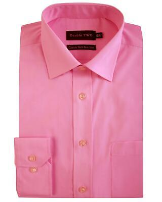 Double Two Mens Long Sleeved Non Iron Cotton Rich Shirts (4500-2)