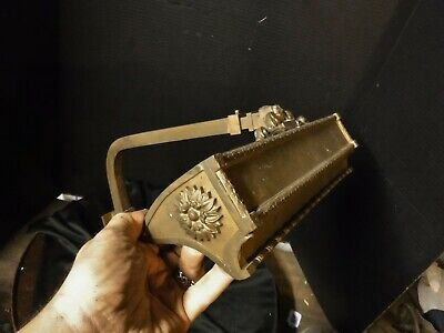 Antique Ornate IP FRINK Brass Reflector Picture Light Bryant Cluster Sconce