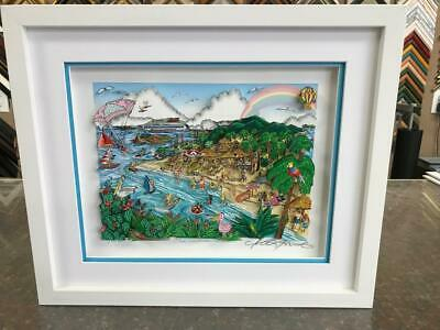 """Charles Fazzino 3D Artwork """"Our Caribbean Vacation"""" Signed & Numbered Deluxe Ed."""
