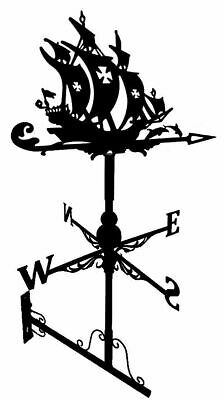 Floor standing and wall mounted Weathervanes Steel Pirate ship Weathervane Gift