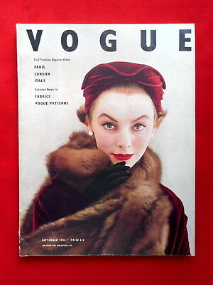VOGUE September 1953 (London). Cover von Henry Clarke, 184 Seiten