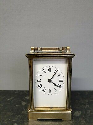 Antique Brass Carriage Clock with French Platform Movement