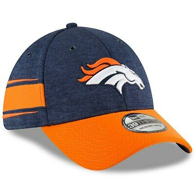 newest bdb6d a7693 New Era 2018 Men s Denver Broncos Sideline Home 39Thirty Fitted Hat S M or M