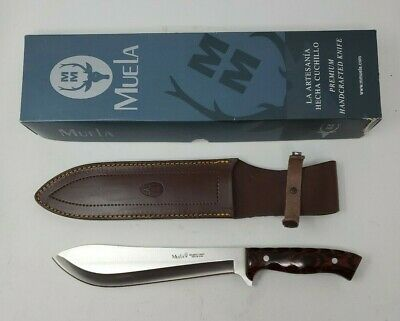 Muela Machete Fixed Blade Hunting Knife with Leather Sheath