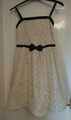Boden Johnnie B Girls Age 16+ Cream Ivory Gold Lace Party Prom Bridesmaid Dress