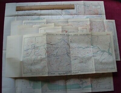 1839 ~ FIRST AFGHAN WAR ~ MAPS/BATTLE PLANS x 5 KABUL AFGHANISTAN EAST INDIA CO.