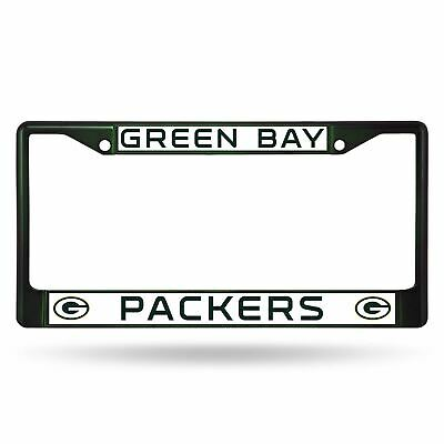 Green Bay Packers Chrome License Plate Frame Tag Cover Car/Auto FCC Dark Green