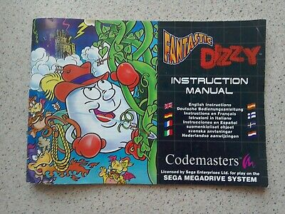 Fantastic Dizzy Manual - Sega Mega Drive - NO GAME MANUALS ONLY (PAL)