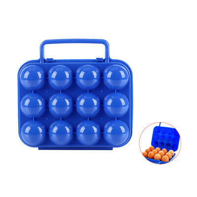 Camping Hiking Portable 6/12 Grid Egg Storage Holder Container Box Case