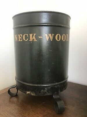 Antique 19thC Toleware Neck-Wool Container-Barber Shop-Hairdressers