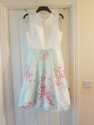 b1b99964d TED BAKER IDOLA SOFT BLOSSOM CONTRAST DRESS Ted size 3 UK size 12