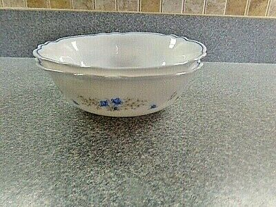 2  Arcopal France CHLOE Cereal Bowls Scalloped w/ Pink Blue Flowers China