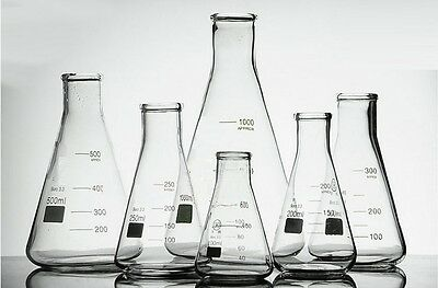 DISCOUNTED Borosilicate Glass Conical Flask Erlenmeyer Graduated Boro 3.3 B GRAD