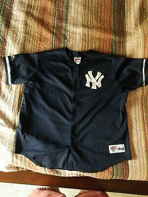 31b351629 MENS 2XL - Vtg MLB New York Yankees Majestic Diamond Collection Sewn Jersey  USA
