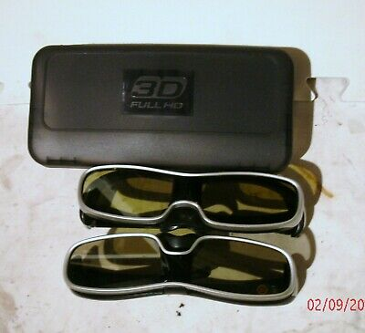 Panasonic 3D Glasses Model Ty-Ew3D10 Set Of (2) Pairs Excellent Condition