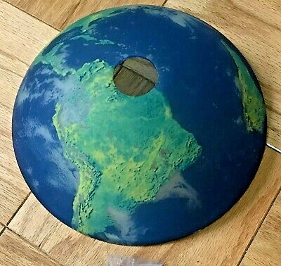 New Glass Ceiling Lamp Shade World Globe Map Light Fixture Cover Blue Earth Dome